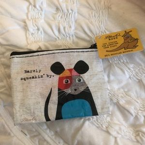 NWT Blue Q Bags Barely Squeakin by Mouse Wallet